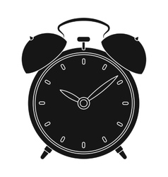 Bedside clock icon in black style isolated on vector image