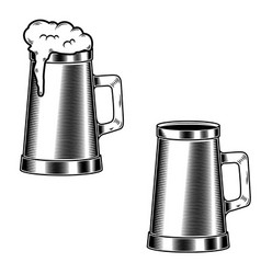 beer mug isolated on white background design vector image