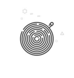 Bike inner tube or tire line icon symbol vector