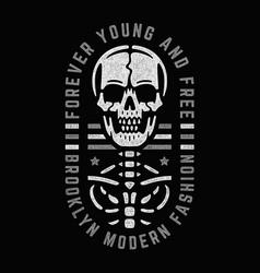 bizarre dead skull vector image