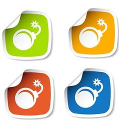 Bomb stickers vector