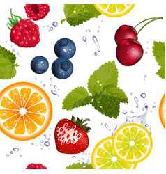 Bright Seamless Fruit Pattern vector