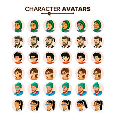 business people avatar set man woman vector image