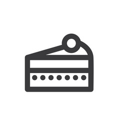 cake slice icon vector image