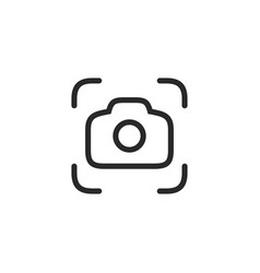 camera icon in flat style isolated on white vector image