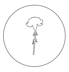 carnation icon black color in circle vector image