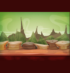 Cartoon fantasy sci-fi martian background vector