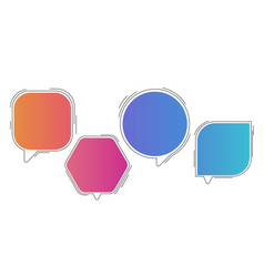 colour bubble speech infographic template vector image