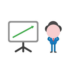 Concept of faceless businessman character with vector