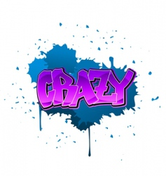 Crazy graffiti background vector