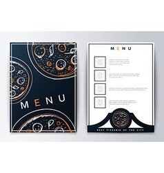 Design menu background pizza for restaurant or vector