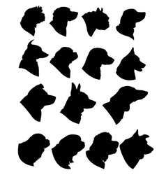 Dog Profiles vector