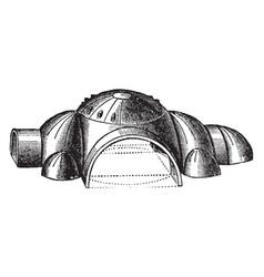 Dome system of hagia sophia basilica vintage vector
