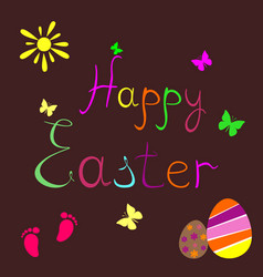 Eastereaster card vector