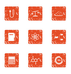 Endorphin icons set grunge style vector