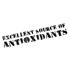 Excellent source of antioxidants stamp vector image