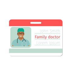 Family doctor medical specialist badge vector