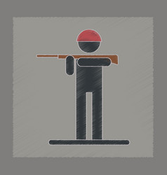 Flat shading style icon kids toy soldier vector
