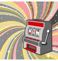 gambling machine vector image