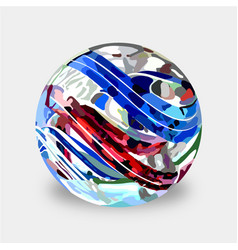 Glass marbles vector