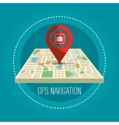 Gps navigation design vector
