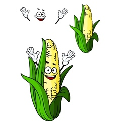 Happy corn on the cob with a big smile vector image