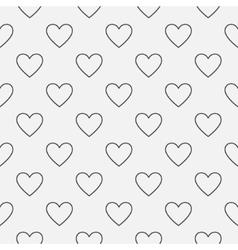 Heart seamless minimal pattern vector image