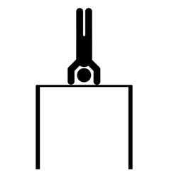 horizontal bar and man vector image