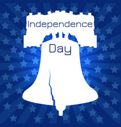 independence day of the usa liberty bell vector image