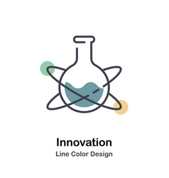 Innovation lineal color icon vector