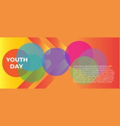 International youth day background vector