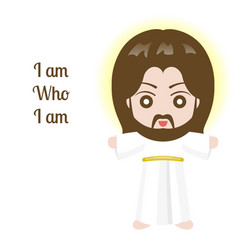 jesus christ design over white background vector image