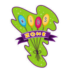kids zone children playground game room or center vector image