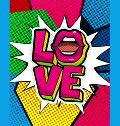 love you word bubble vector image