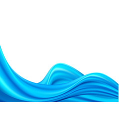 modern blue flow poster wave liquid shape color vector image