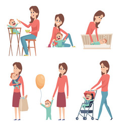 mother and baby love happy family parents playing vector image