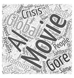 Movies on Global Warming Word Cloud Concept vector