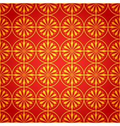 National chinese seamless pattern with chrysanthem vector image