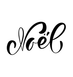 Noel calligraphic christmas hand written vector