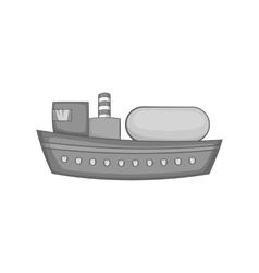 Oil tanker icon black monochrome style vector image