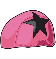 Pink Helmet vector