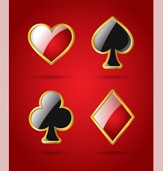 Poker card suits - modern isolated clip art vector