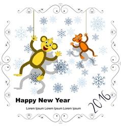 Postcard 2 monkey 2016 vector