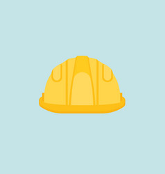 protective helmet icon in flat design vector image
