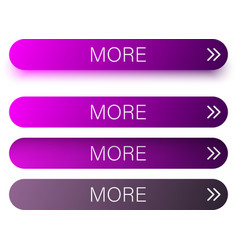 purple more web buttons isolated on white vector image
