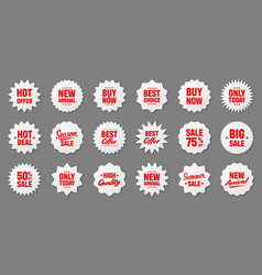 realistic price tags collection special offer or vector image