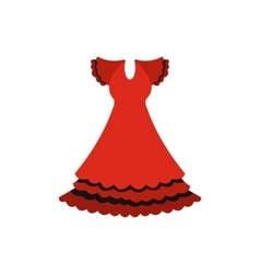 Red dress icon flat style vector