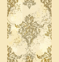 rococo pattern background ornamented vector image