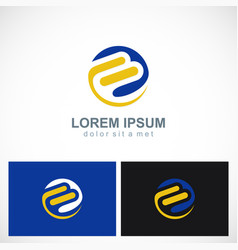 round abstract shape technology logo vector image