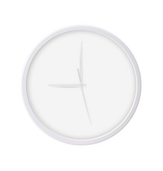 round wall clock isolated on white background vector image